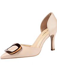 cheap -Women's Heels Stiletto Heel Pointed Toe Buckle Synthetics Minimalism Spring & Summer Black / Pink / Beige / Party & Evening