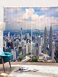 abordables -une vue à vol d'oiseau du rideau 3d avec impression numérique dans la ville