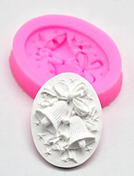 cheap -Christmas mold DIY baking tools bell shape silicone mold mousse cake cream sugar cookies