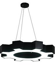 cheap -1-Light 60 cm Eye Protection / Creative / LED Chandelier Metal Circle / Geometrical / Novelty Black LED / Modern 110-120V / 220-240V