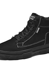 cheap -Men's Combat Boots PU Winter Boots Black / Brown / Gray