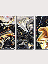cheap -Print Rolled Canvas Prints Stretched Canvas Prints - Abstract Modern Three Panels Art Prints