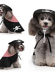 cheap -Dog Cat Dress Tuxedo Christmas Halloween Christmas Dog Clothes Black Costume Polyester Canvas Mixed Material S M L XL