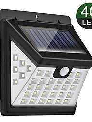 cheap -New Solar Wall Lamp 40 Light Tri-sided Luminous Courtyard Induction Lamp