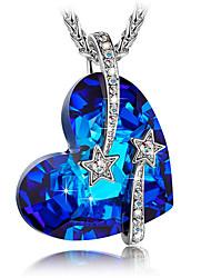 cheap -Men's Women's Pendant Necklace Necklace Titanium Steel Blue 45 cm Necklace Jewelry 1pc For Gift Daily School Street