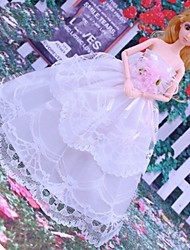 cheap -Doll Dress Party / Evening For Barbiedoll Satin / Tulle Polyester Satin Dress For Girl's Doll Toy / Kids
