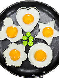 cheap -5pcs/set Fried Egg Pancake Shaper Omelette Mold Mould Frying Egg Cooking Tools Kitchen Accessories Gadget Rings