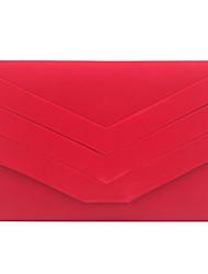 abordables -Femme Velours Pochette Couleur unie Noir / Rouge / violet foncé