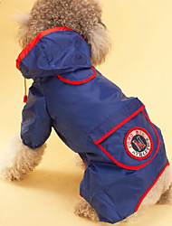 cheap -Dog Rain Coat Dog Clothes Orange Red Blue Costume Baby Small Dog Mixed Material Waterproof S M L XL XXL