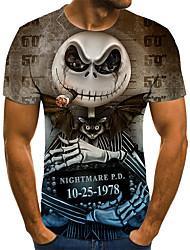 baratos -Homens Camiseta 3D / Arco-Íris Marron