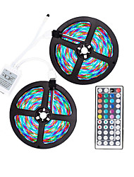 cheap -ZDM LED Strip Light (2*5M)10M Waterproof 2835RGB 600led Strips Lighting Flexible Color Changing with 44 Key IR Remote Ideal for Home Kitchen Christmas TV Back Lights DC 12V