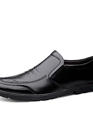 cheap -Men's Comfort Shoes Nappa Leather Spring & Summer / Fall & Winter Casual Loafers & Slip-Ons Non-slipping Black