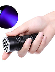cheap -21LED Flashlight Outdoor Lights LED Violet UV Flashlight Black Without Battery 1 Pc