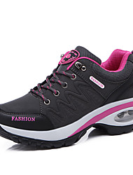 cheap -Women's Trainers Athletic Shoes Hidden Heel Round Toe Outdoor Hiking Shoes Leather Pink / White Pink / Grey Black