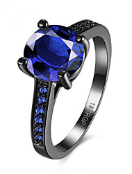 cheap -Women's Ring 1pc Blue Copper Round Stylish Gift Festival Jewelry Classic Flower Cool