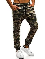 abordables -Homme Pantalons de Jogging Pantalons de Course Running Ceinture élastique Coton Des sports Joggings Bas Fitness Séchage rapide Doux Bloc de Couleur Noir Vert Véronèse Vert Kaki / Elastique