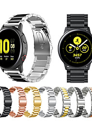 cheap -Metal Stainless Steel Watch Band For Samsung Galaxy Watch Active 2 / Galaxy Watch 42mm / Gear S2 Classic / Gear Sport Replaceable Bracelet Wrist Strap Wristband