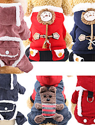 cheap -Dog Cat Hoodie Vest Christmas Christmas Dog Clothes Rainbow Red / Green Red Costume Polyester Canvas Mixed Material XS S M L XL XXL