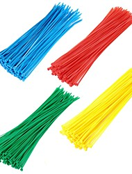 cheap -400pcs Self-locking Nylon Cable Ties Colorful Plastic Zip Tie  Durable Wire Binding Wrap Straps Wiring Accessories