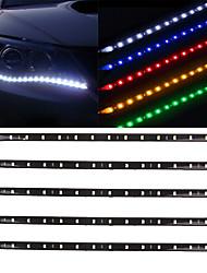 cheap -10pcs 12V 30cm 15LED 3528 SMD Waterproof Car Auto Flexible Strip Lights For Car Auto Bike Motorcycle Truck Decoration Lighting