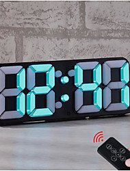 cheap -LED Digital Alarm Clock For Desk / Shelf / Tabletop, Modern Home Decoration 3D Wall Clock, Easy To Read at Night, Loud Alarm and Snooze, Big Digit Display