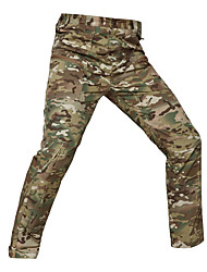 cheap -Unisex Hunting Pants Windproof Warm Wearable Soft Spring Summer Fall Camo / Camouflage Cotton for Camouflage Gray Camouflage S M L XL XXL / Winter