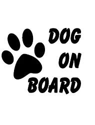 Недорогие -2шт собака на борту автомобиля стикер общий прекрасный для окна автомобиля / задней двери для универсального