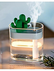 cheap -160ML Ultrasonic Air Humidifier Clear Cactus Color Light USB Essential Oil Diffuser Car Purifier Aroma Diffusor Anion Mist Maker
