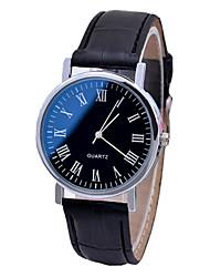 cheap -Men's Dress Watch Quartz PU Leather Black / Brown No Chronograph Cute Creative Analog New Arrival Minimalist - Black Black / White White One Year Battery Life