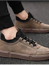 cheap -Men's Comfort Shoes PU Winter Sneakers Black / Brown / Gray