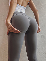 cheap -Women's High Waist Yoga Pants Leggings Butt Lift Black Dark Red Ink Blue Nylon Running Fitness Sports Activewear High Elasticity Skinny