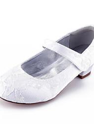 cheap -Girls' Mary Jane Lace Heels Little Kids(4-7ys) / Big Kids(7years +) White / Champagne / Ivory Spring / Party & Evening