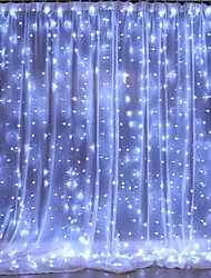 cheap -3x3m LED Curtain String Lights Christmas Fairy Lights garland Home Decorative Lights for WeddingPartyGarden Decoration