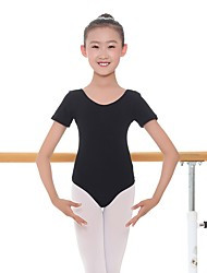 Недорогие -Детская одежда для танцев трико / Комбинезон-пижама На эластичной ленте Девочки Учебный На каждый день С короткими рукавами Средняя талия Спандекс Хлопок