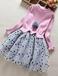 cheap -Kids Little Girls' Dress Floral Red Blushing Pink Dresses