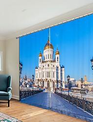 abordables -or dôme église impression numérique 3d rideau rideau ombrage haute précision noir soie fbric haute qualité rideau