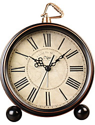 cheap -Classic Retro Alarm Clock, Bed Alarm Clock Battery Operated Desk Clock Metal Silent Alarm Clock for Bedrooms
