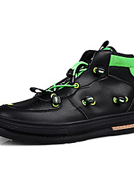 cheap -Men's Novelty Shoes PU Spring / Fall & Winter British / Preppy Sneakers Walking Shoes Non-slipping Black / White / Beige