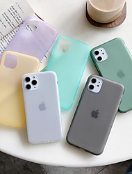 cheap -Case For Apple iPhone 11 / iPhone 11 Pro / iPhone 11 Pro Max Dustproof Back Cover Solid Colored TPU