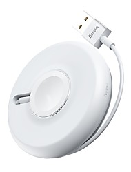 cheap -Baseus YOYO Wireless Charger for iWwith 1M Cable White