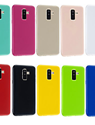 cheap -Case For Samsung Galaxy S9 / Note 9 / J6 Ultra-thin Back Cover Solid Colored TPU