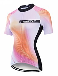 cheap -CAWANFLY Women's Short Sleeve Cycling Jersey Mineral Green Gradient Bike Jersey Top Mountain Bike MTB Road Bike Cycling Breathable Quick Dry Back Pocket Sports Clothing Apparel / Advanced / Expert