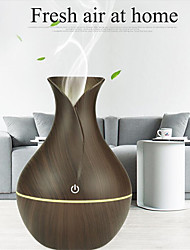abordables -humidificateur aroma huile diffuseur grain de bois ultrasonique bois air humidificateur usb cool mini fabricant de brouillard led lumières maison 130ml
