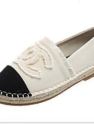 cheap -Women's Flats Flat Heel Round Toe Canvas Fall & Winter Black / White / Blue