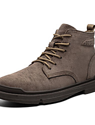 cheap -Men's Combat Boots PU Fall Casual Boots Mid-Calf Boots Black / Brown / Khaki