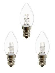 abordables -3pcs 1 W Luces LED en Vela 20 lm E12 4 Cuentas LED LED Dip Decorativa Blanco Cálido Blanco 100-240 V