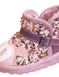 halpa -Tyttöjen Talvisaappaat Mokkanahka Bootsit Pikkulapset (4-7 vuotta) Musta / Hopea / Pinkki Talvi / Nilkkurit