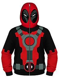 cheap -Kids Boys' Active Basic Black & Red Geometric Print Color Block Print Long Sleeve Hoodie & Sweatshirt Red