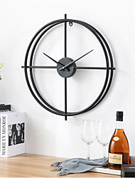 cheap -Wall Clocks Wall Clock,Modern Contemporary Fashion Stainless steel Irregular Indoor European clock wall clock living room personality creative fashion home bedroom wall