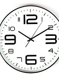 Недорогие -Современный современный Нержавеющая сталь Круглый В помещении Батарея Украшение Настенные часы Зеркальное Нет